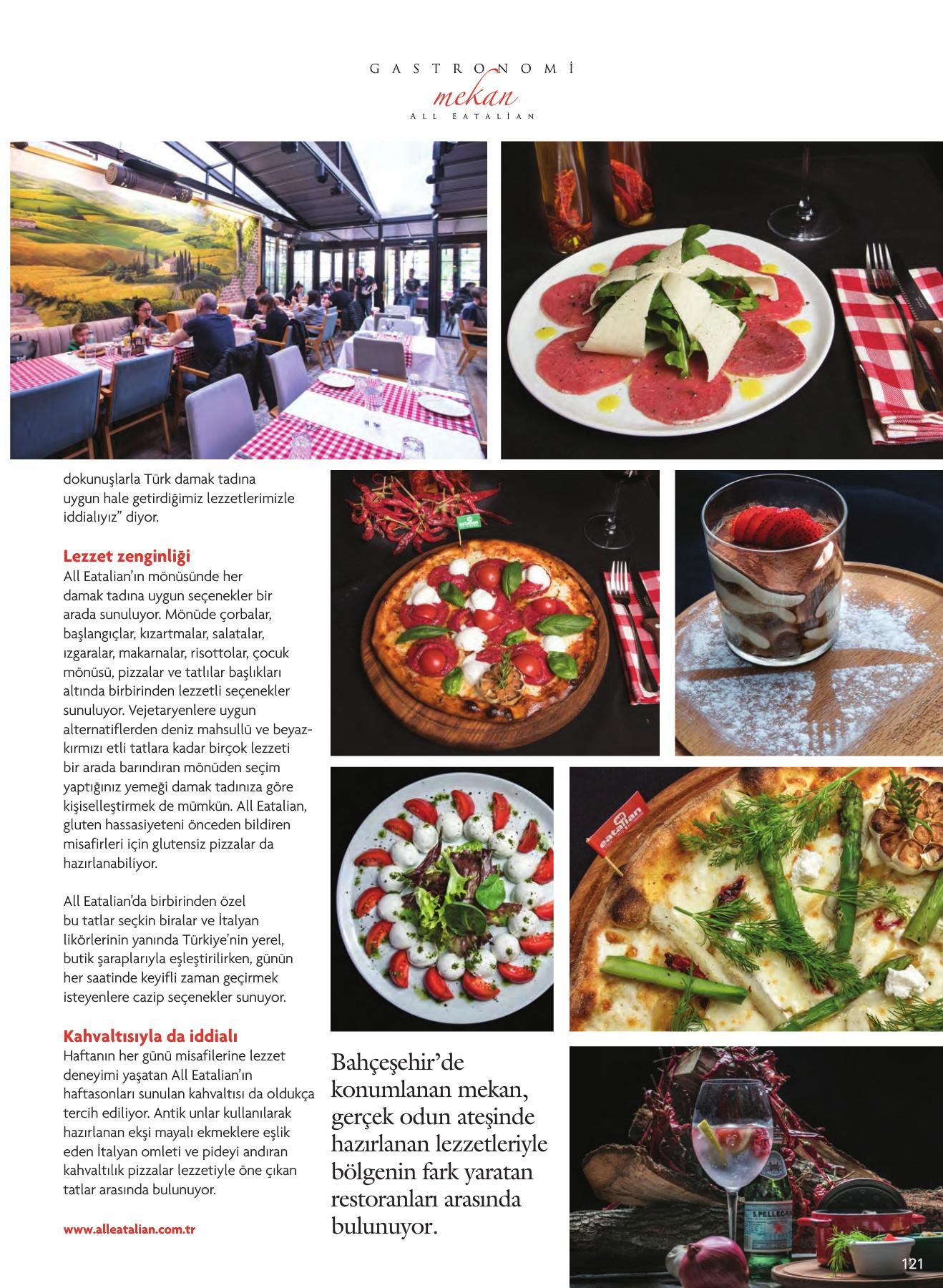 Alleatalian Gastronomi Dergisinde!